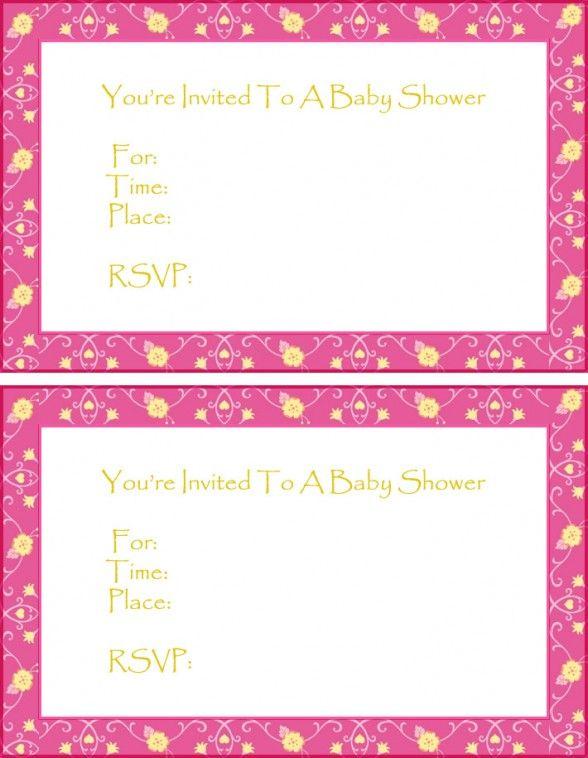 Baby Shower Invitations For Girls Templates Invitation Card Free Baby Shower Invitations Free Printable Baby Shower Invitations Baby Shower Invites For Girl