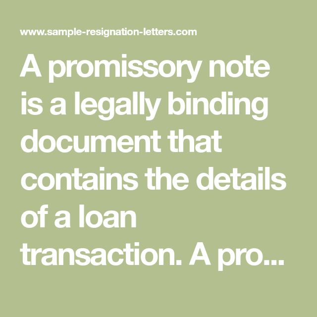 Writing A Simple Promissory Note For Car (with Sample