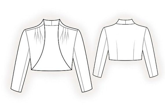 4159 PDF Sewing Pattern for Bolero, Personalized for Custom Size ...