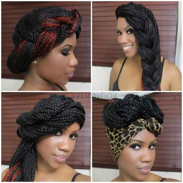 Goddess Braid | 21 Awesome Ways To Style Your Box Braids And Locs