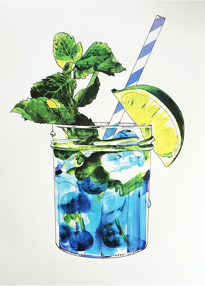 Blueberry Mojito Large | Print Club London