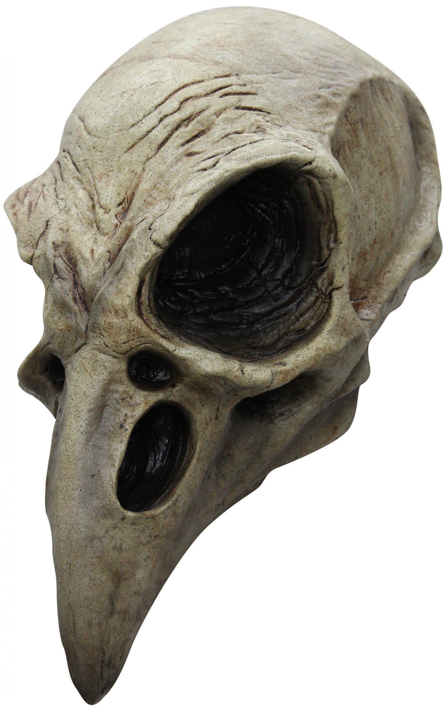 Crow Skull Latex Mask Animal Skeleton Mask Halloween Ghoulish ...
