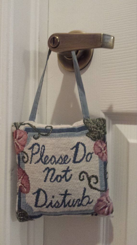 Vintage Do Not Disturb Pillow Hanging Door Knob by CreationsByTia - do not disturb door hanger template