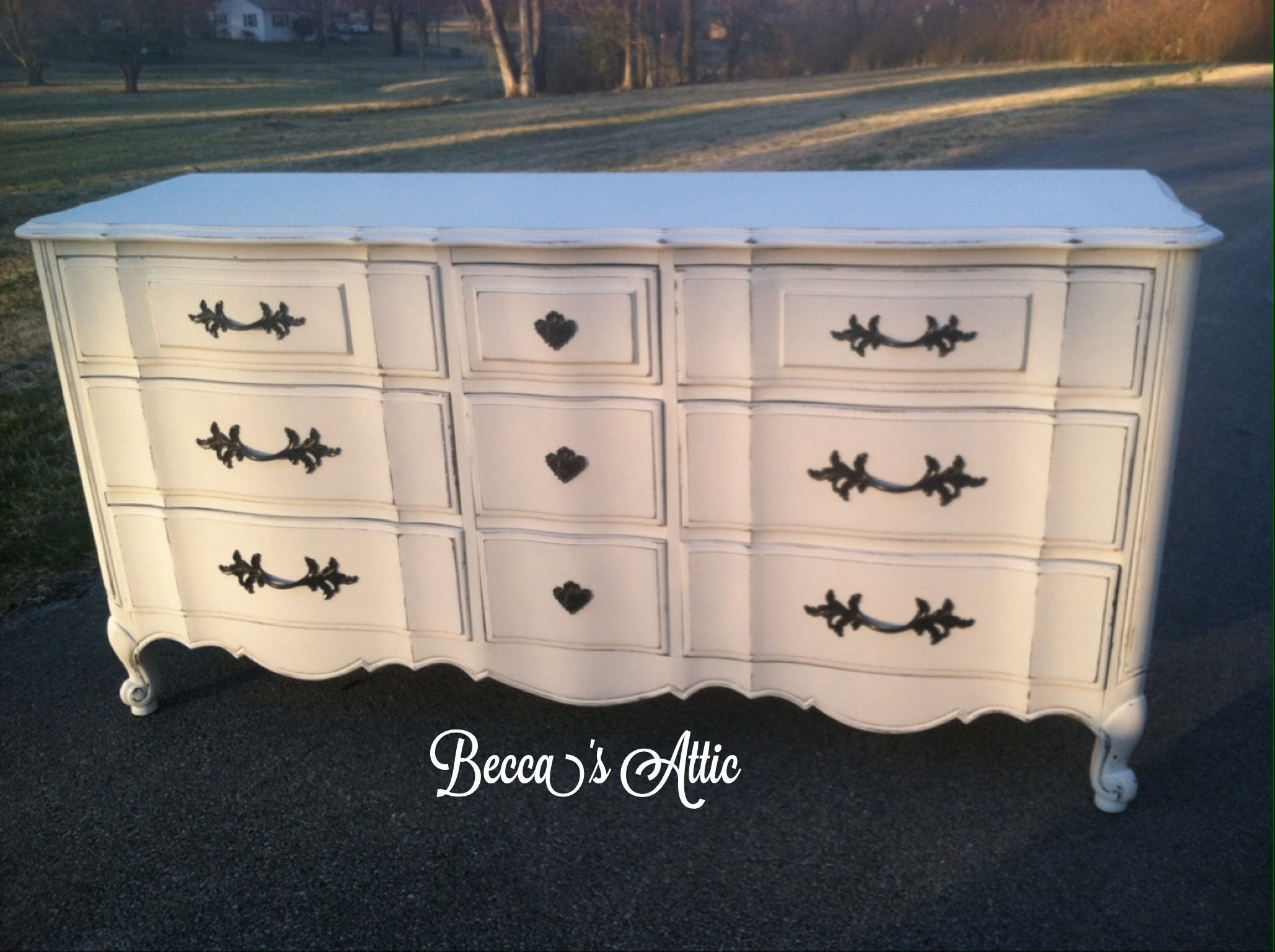 Shabby~Chic French Provincial Dresser