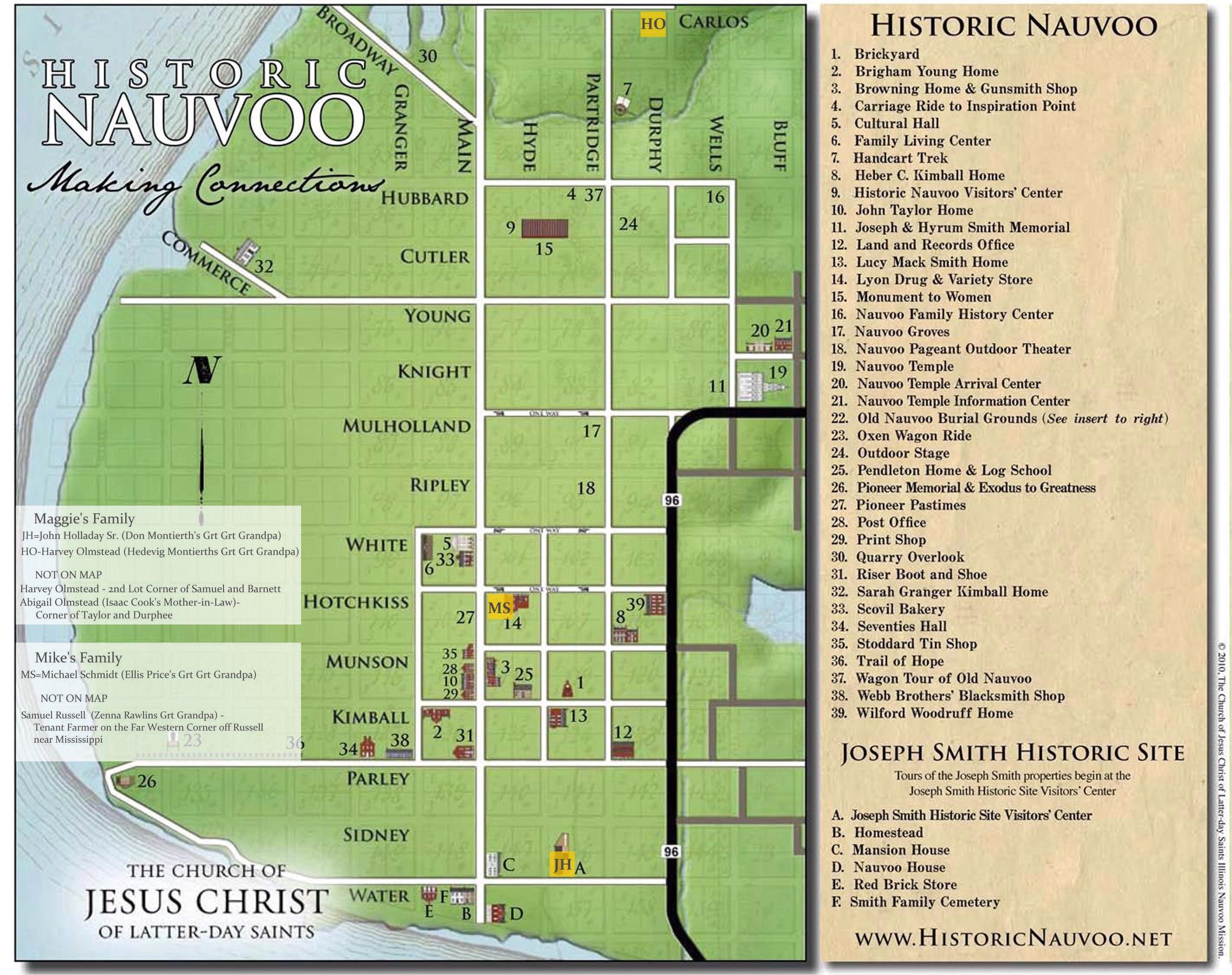 Historic-Nauvoo-Map-Ancestors   Trip- Midwest Church History