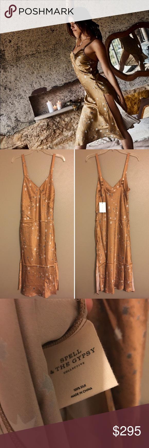 9ddf97b6e4122 Spell Designs Stargazer Silk Slip Dress in Moon BNWT, Limited Edition  Stargazer Slip Dress. Size Medium. Price is firm. Spell & The Gypsy  Collective Dresses ...