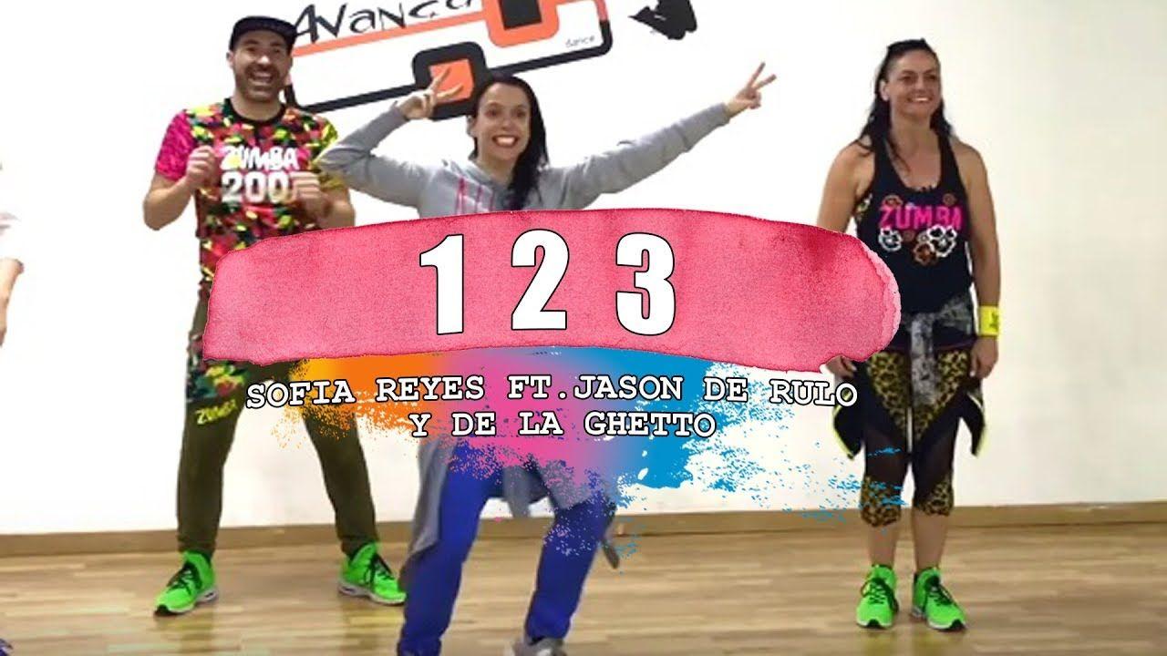 1 2 3 Sofia Reyes Ft Jason Derulo De La Ghetto Zumba Con Alba Duran Youtube Jason Derulo Zumba Duran