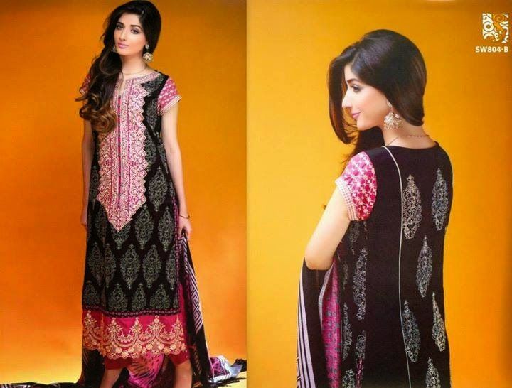 Trouser Shirts With Dupatta : Shaista Embroidered Fall/Winter Collection 2014-2015