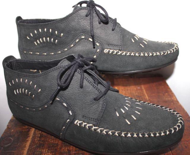 Hush Puppies Black Leather Moccasin Bootie Women 8 5 Msrp 99 Ebay