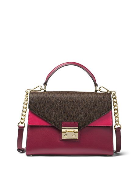 b899a372bf498 MICHAEL MICHAEL KORS Sloan Medium Colorblock Satchel Bag