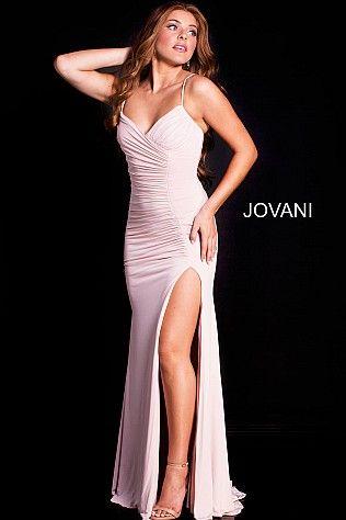 Blush Ruched Bodice Jersey Prom Dress JVN51553 #Jovani #Prom #Party ...