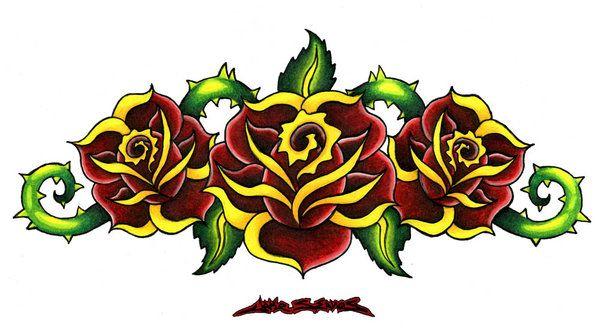 3 Roses by MuddyGreen on DeviantArt