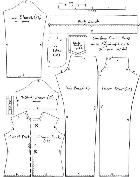 Free Printable Doll Clothes Patterns - Bing 이미지 | kurti | Doll ...