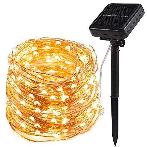 Guirlande lumineuse solaire 200LED Lampe Solaire Exterieur ...