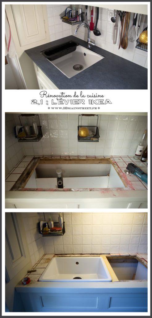 Rénovation de la cuisine  préparation de l\u0027évier Ikea Domsjö sous