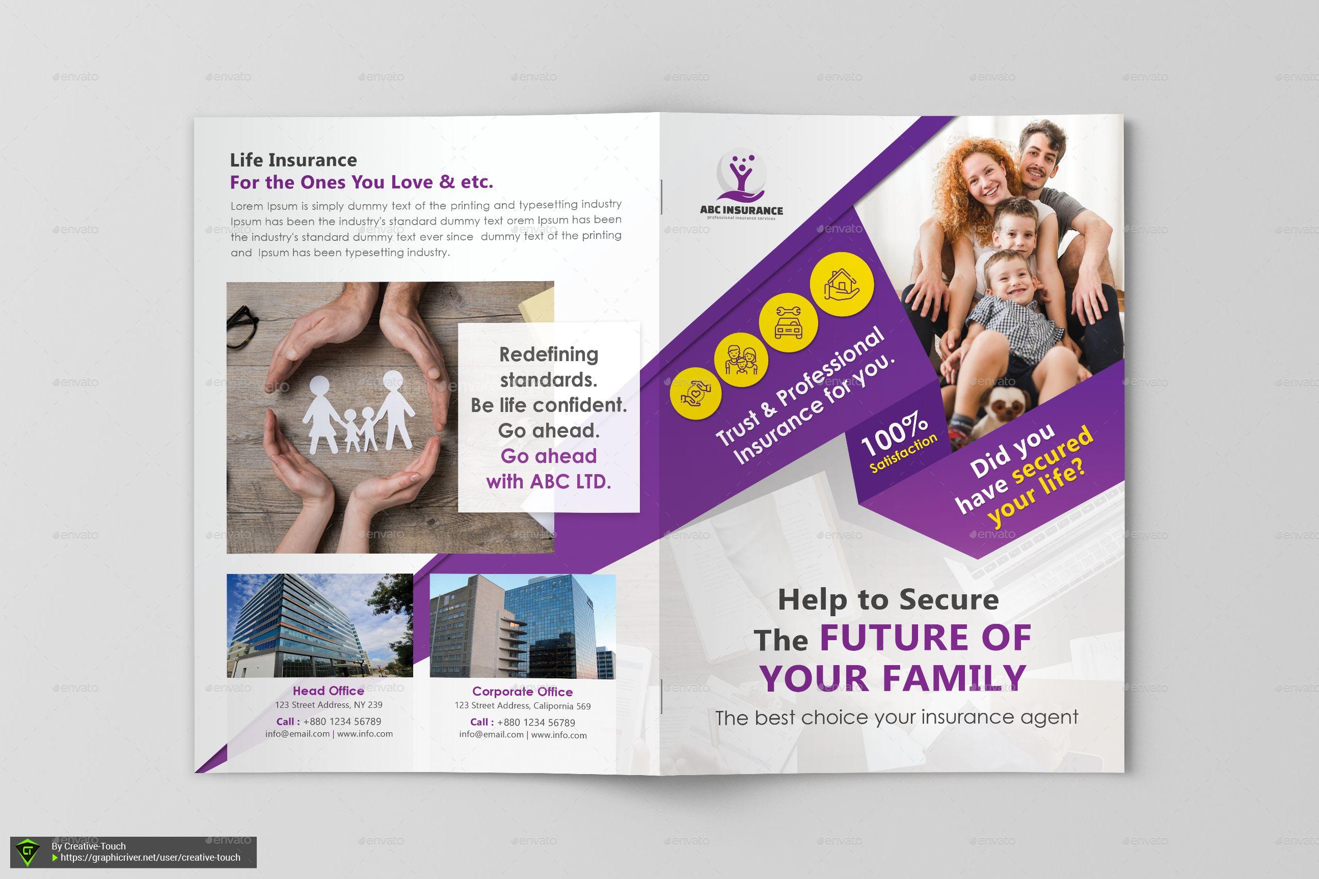Insurance Company Bifold Brochure Affiliate Company Sponsored