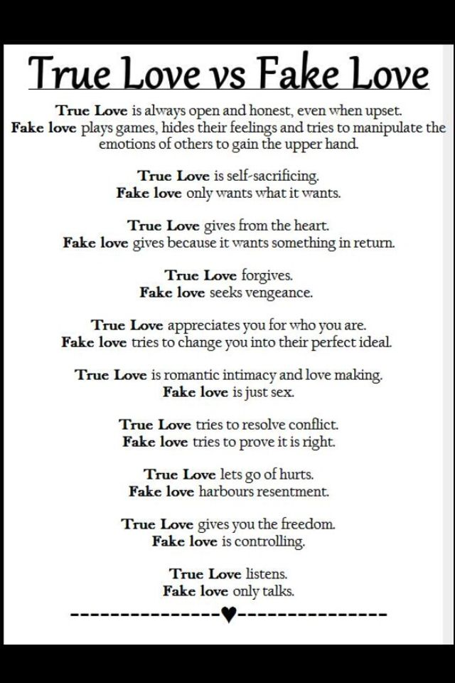 True Love Vs Fake Love Fake Love Quotes Real Love Quotes Fake Relationship Quotes