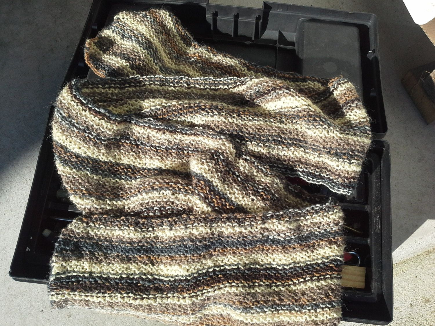 Brown Mens Alpaca Wool Scarf - Mens Striped College Scarf - Teens Handmade Knit  Winter Wrap Fashion Warm Brown Beige (Ready to Ship) by knitix on Etsy ... b6e2ca6a6827