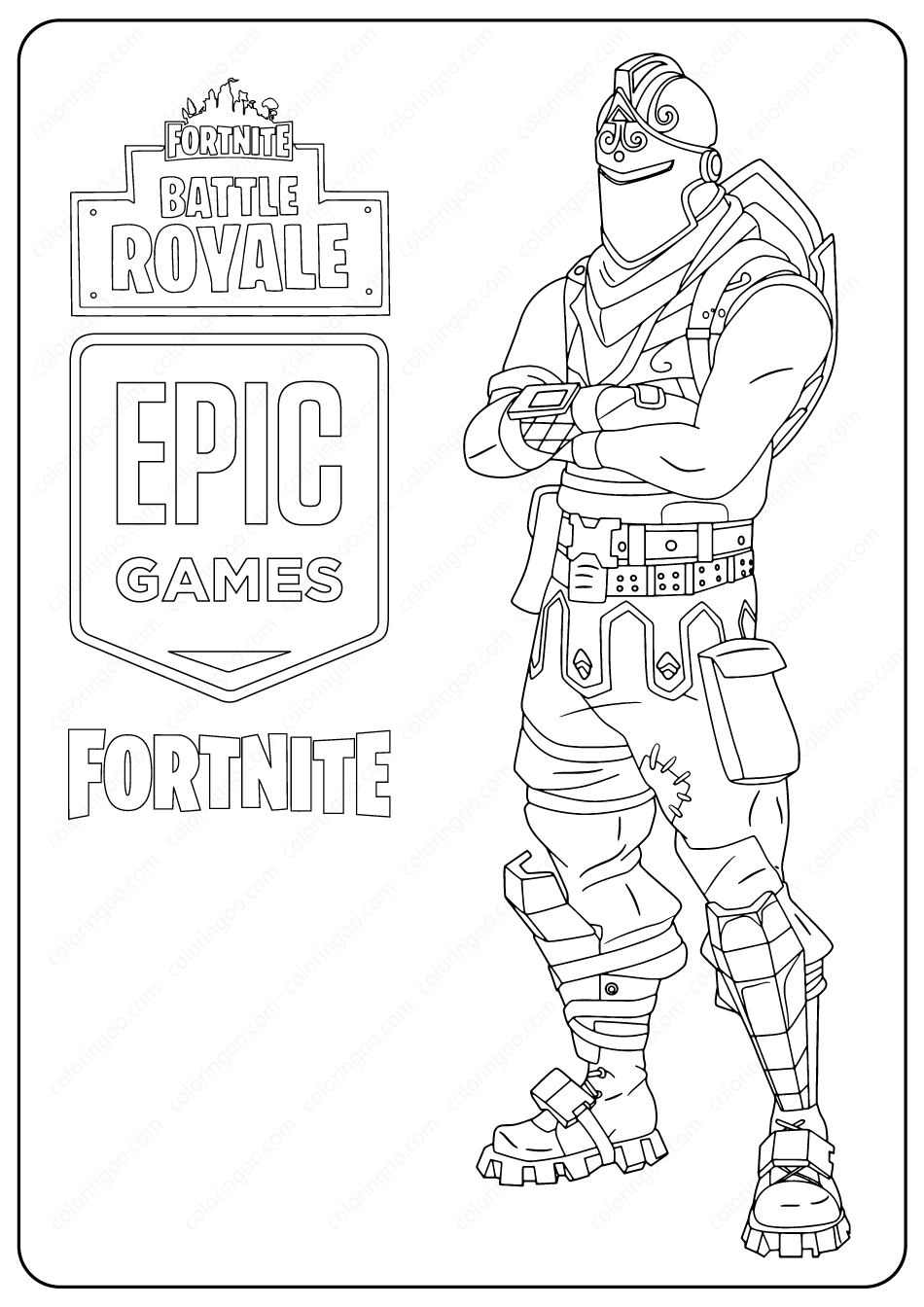 Printable Fortnite Black Knight Skin Coloring Pages ...