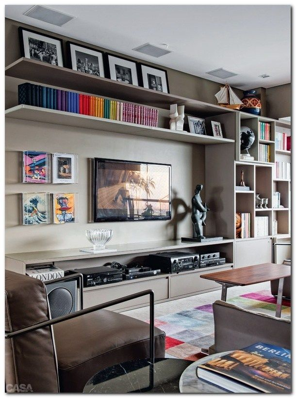 Living Room Tv Setups: Cozy TV Room Setup (43) (With Images)