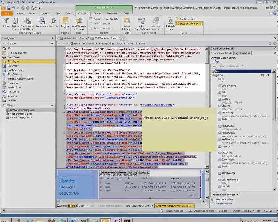How do I Move a web part using SharePoint Designer 2010