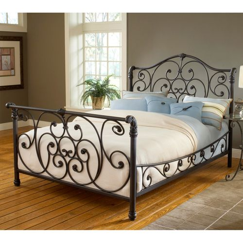 Iron Bed Frames Furniture Wrought Iron Sleigh Bed