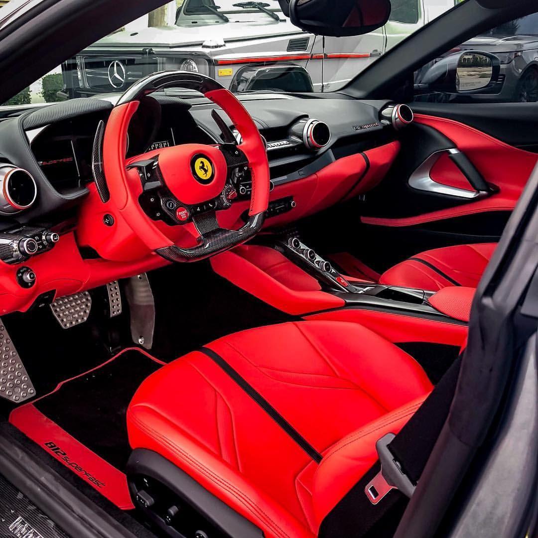 Interior Details Of My Buddies Ferrari 812 Superfast Ferrari World Ferrari Super Cars