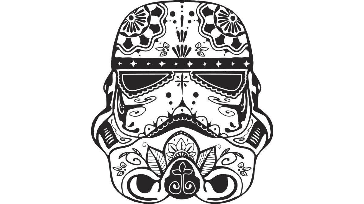Stormtrooper Sugar Skull Men S Perfect Tee By Starwars Design By Humans Star Wars Tattoo Best Tattoo Designs Stormtrooper