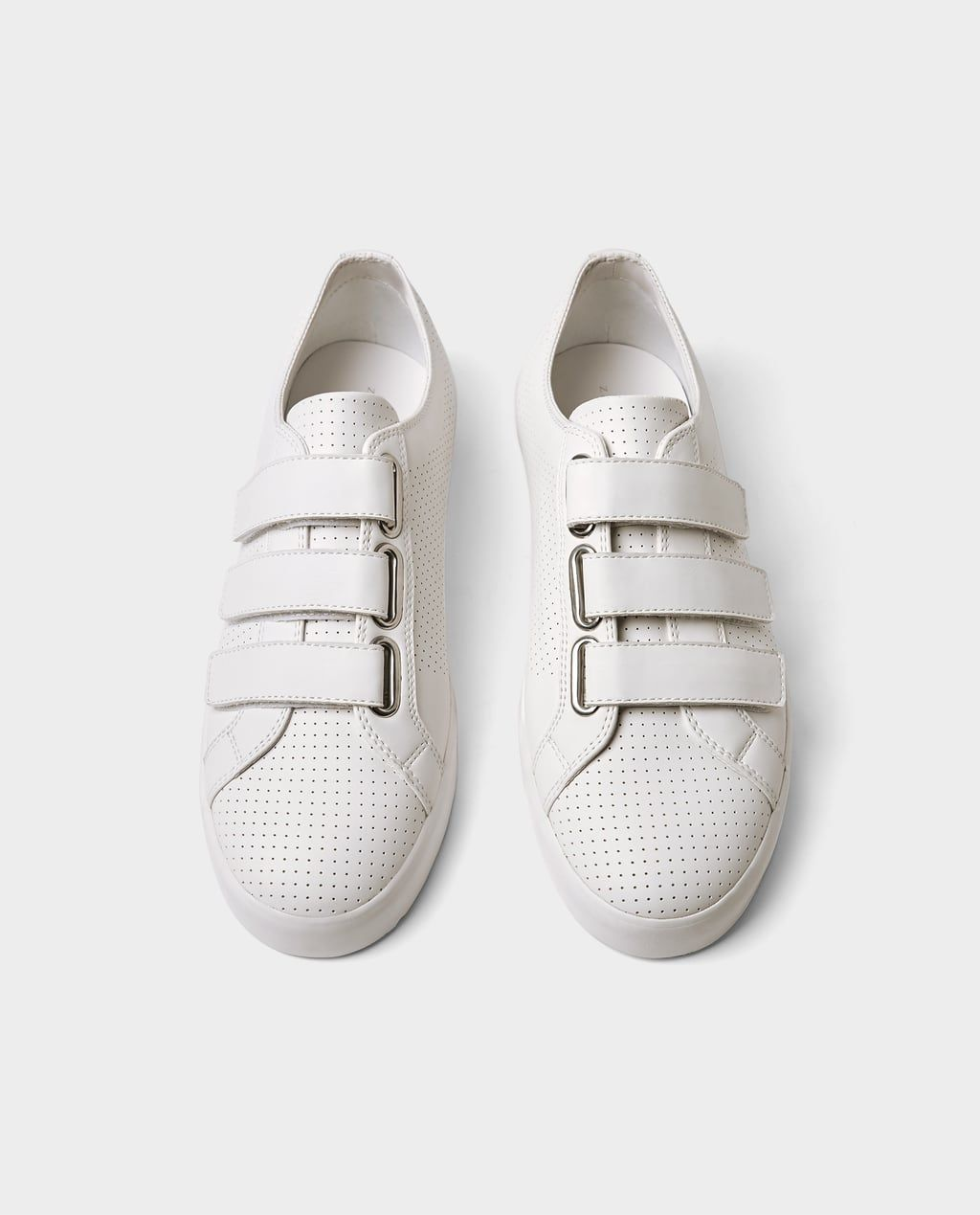 1931b3c8af4d Image 1 of MICRO-PERFORATED SNEAKERS WITH STRAPS from Zara Adidas Sneakers,  Zara,