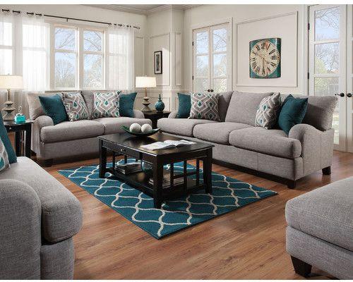 Rosalie Configurable Living Room Set Teal Living Rooms Living