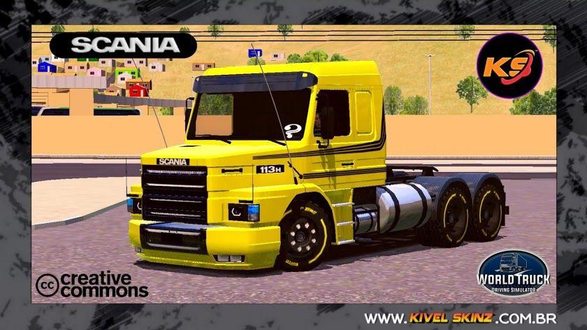 Skins Scania T113 Amarelo Qualificado Em 2020 Com Imagens