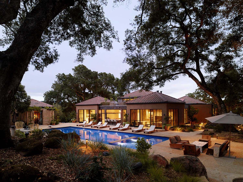 Breathtaking modern ranch house overlooking Sonoma wine ...