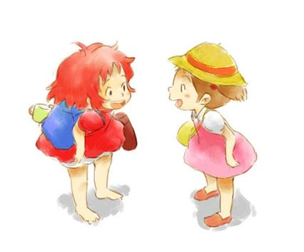 Ponyo and Mei c;