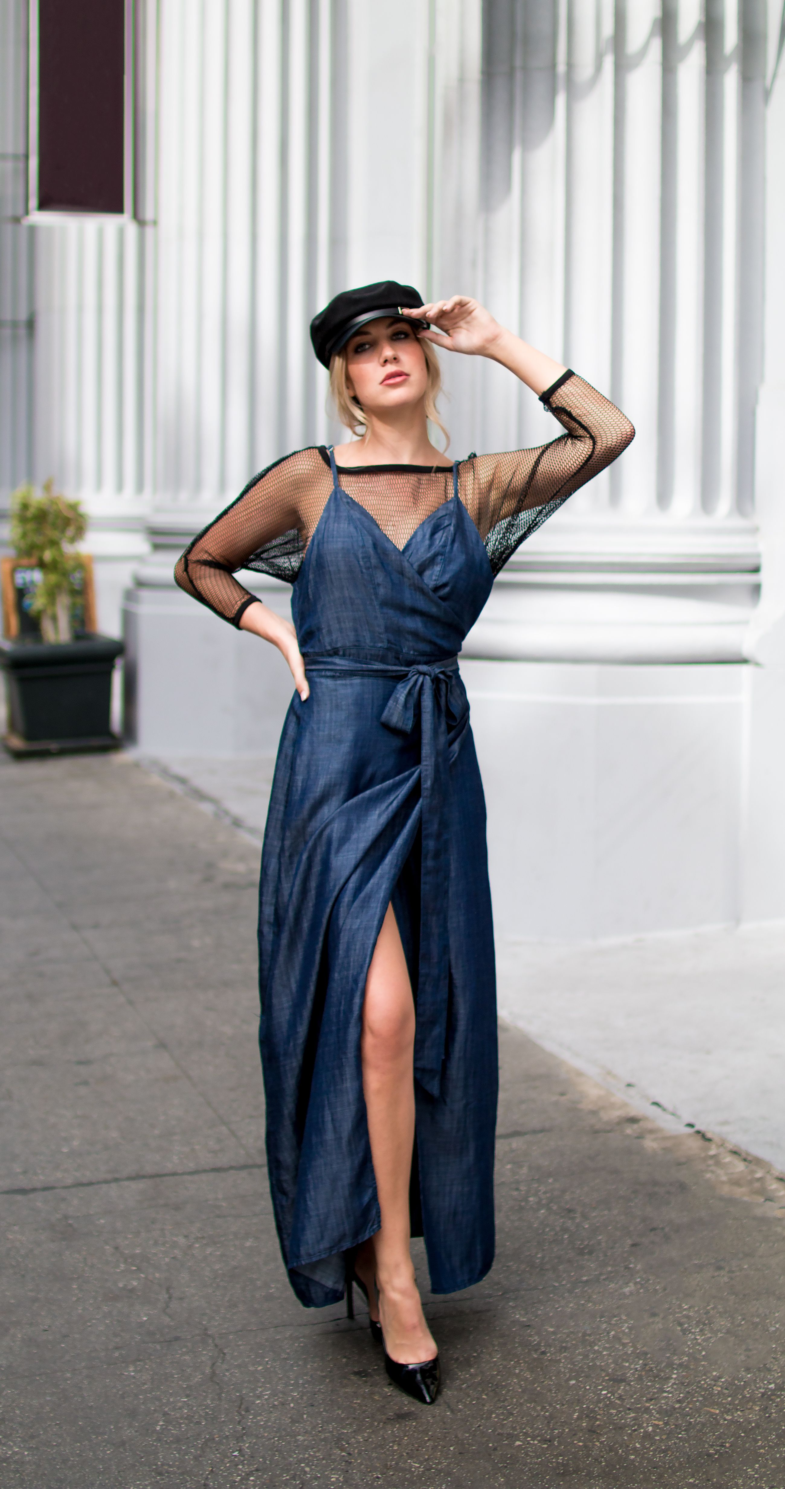 2f924f7485e Sunday brunch ready in our Jodi maxi dress! ☀  standardsandpractices   maxidress  maxi  denim  vneck  spaghettistrap  wrapdress  long  layered   bow ...