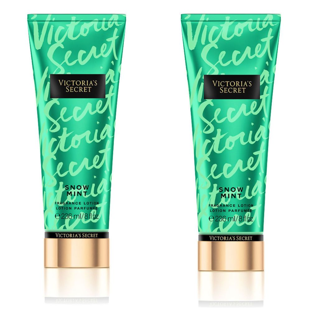 2 Victoria's Secret SNOW MINT Fantasies Fragrance Studio Body Lotion 8 fl.oz #VictoriasSecret