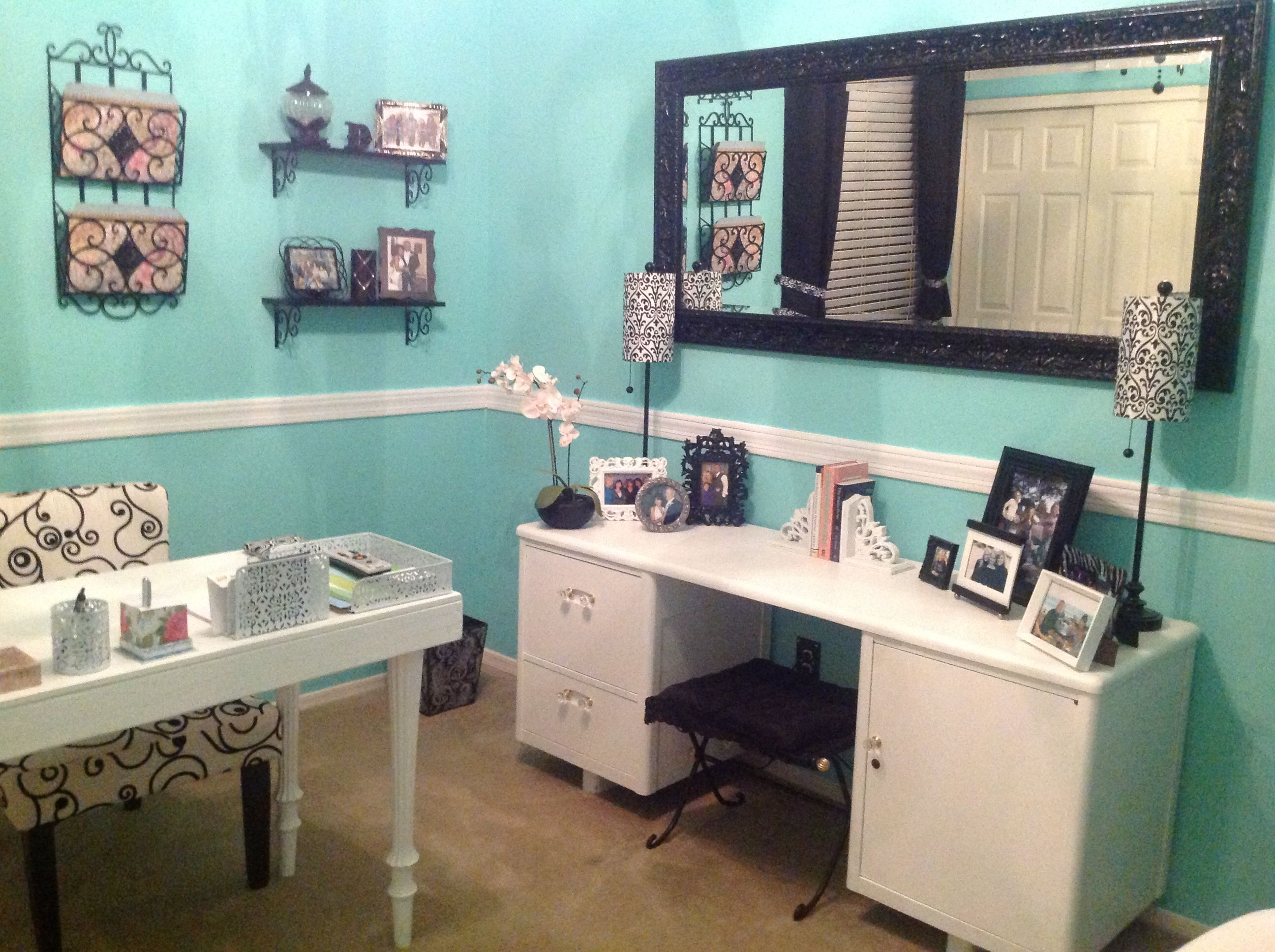tiffany blue office. My Tiffany Blue DIY Office