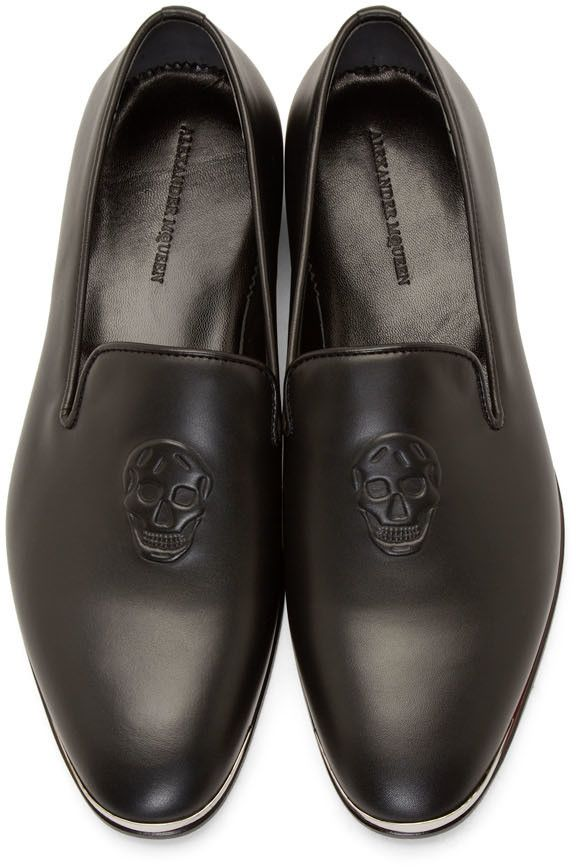 Alexander McQueen - Black Leather Skull