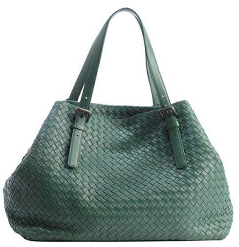 Bottega Veneta mint leather intrecciato top handle tote bag  46173ae2b10e7
