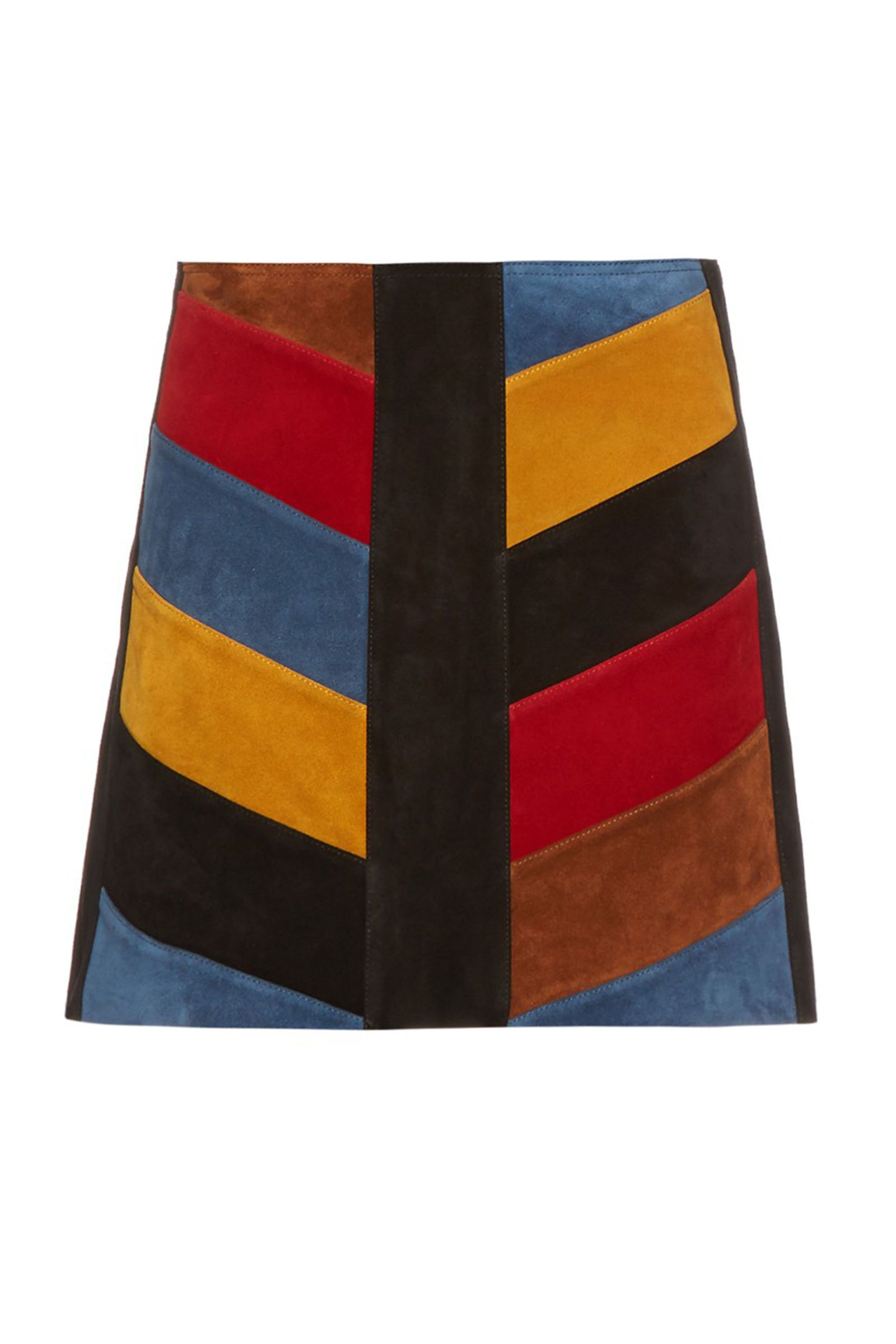 537cc9b524 17 Miniskirts That Flatter Every Body Type - M.I.H Jeans Chevron Suede Mini  Skirt, $541; matchesfashion.com