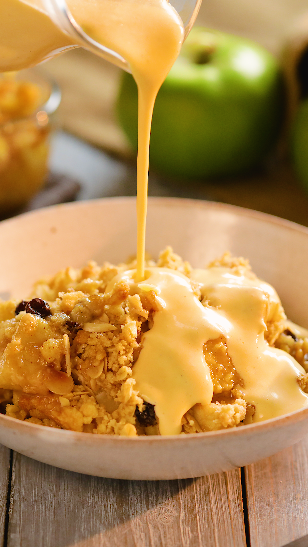 The Best Ever Apple Crumble with Homemade Custard