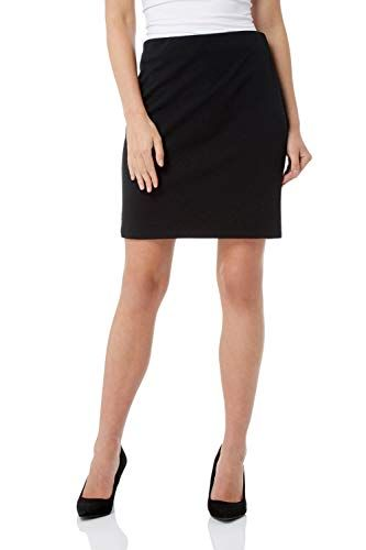 57acec101ca174 Roman Originals Femme Jupe Longueur Genoux Uni Stretch - Extensible ...