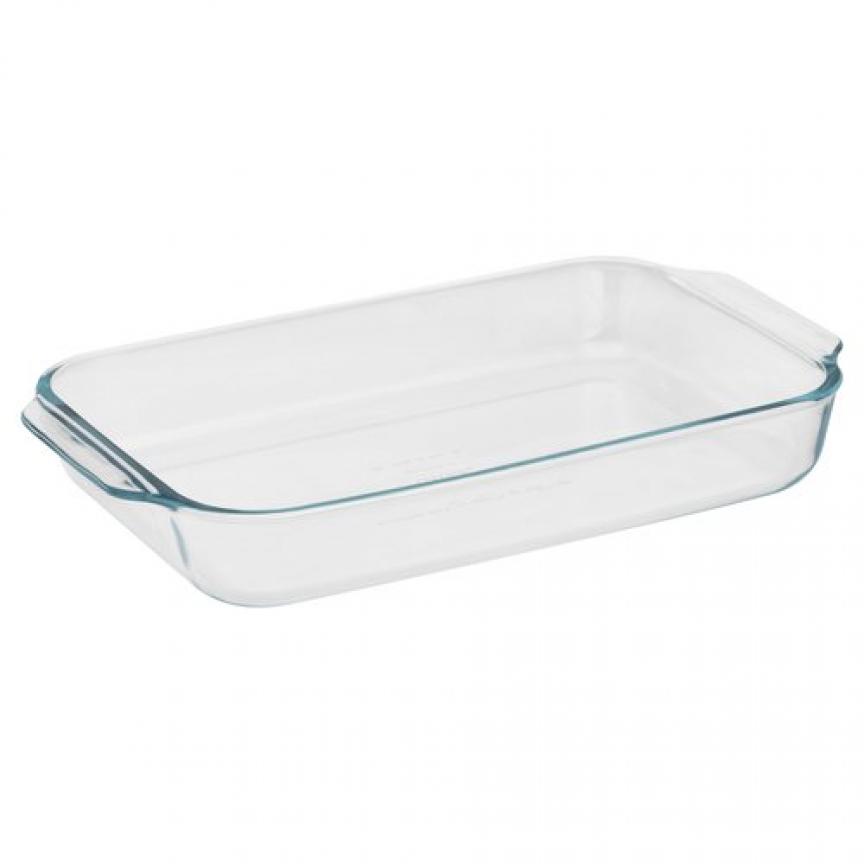Pyrex Basics 3-Quart Oblong Baking Pan, Window-pane