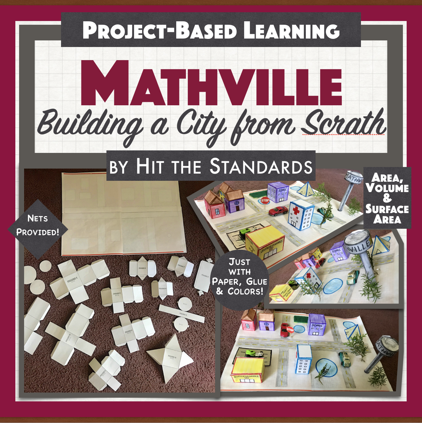 Mathville Build A City Math Project Geometry Area