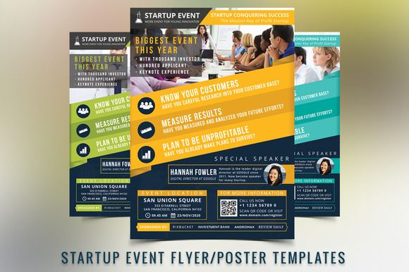 Startup Event Flyer Template  Event Flyer Templates Event Flyers