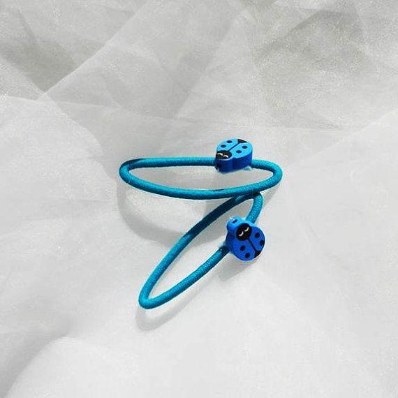 Blue Ladybugs Ponytail Holders by beautifulswagstore on Etsy, $2.50 #BOEBOT #ETSYSNS #TEAMSELLIT #COUPON PIFRAK 12% OFF