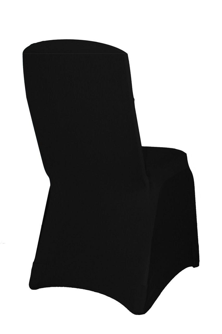 Surprising Square Top Stretch Spandex Banquet Chair Cover Black Black Interior Design Ideas Gentotryabchikinfo