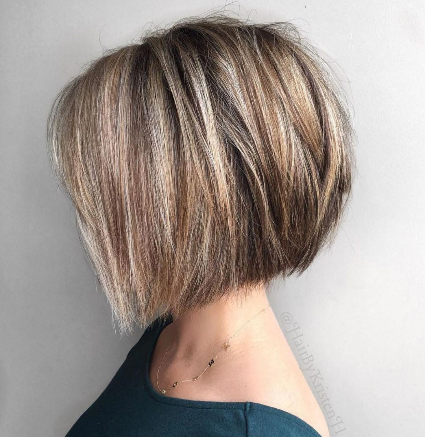 Straight Textured Angled Bronde Bob Shortbobhairstyles Thick Hair Styles Bob Hairstyles For Thick Haircut For Thick Hair