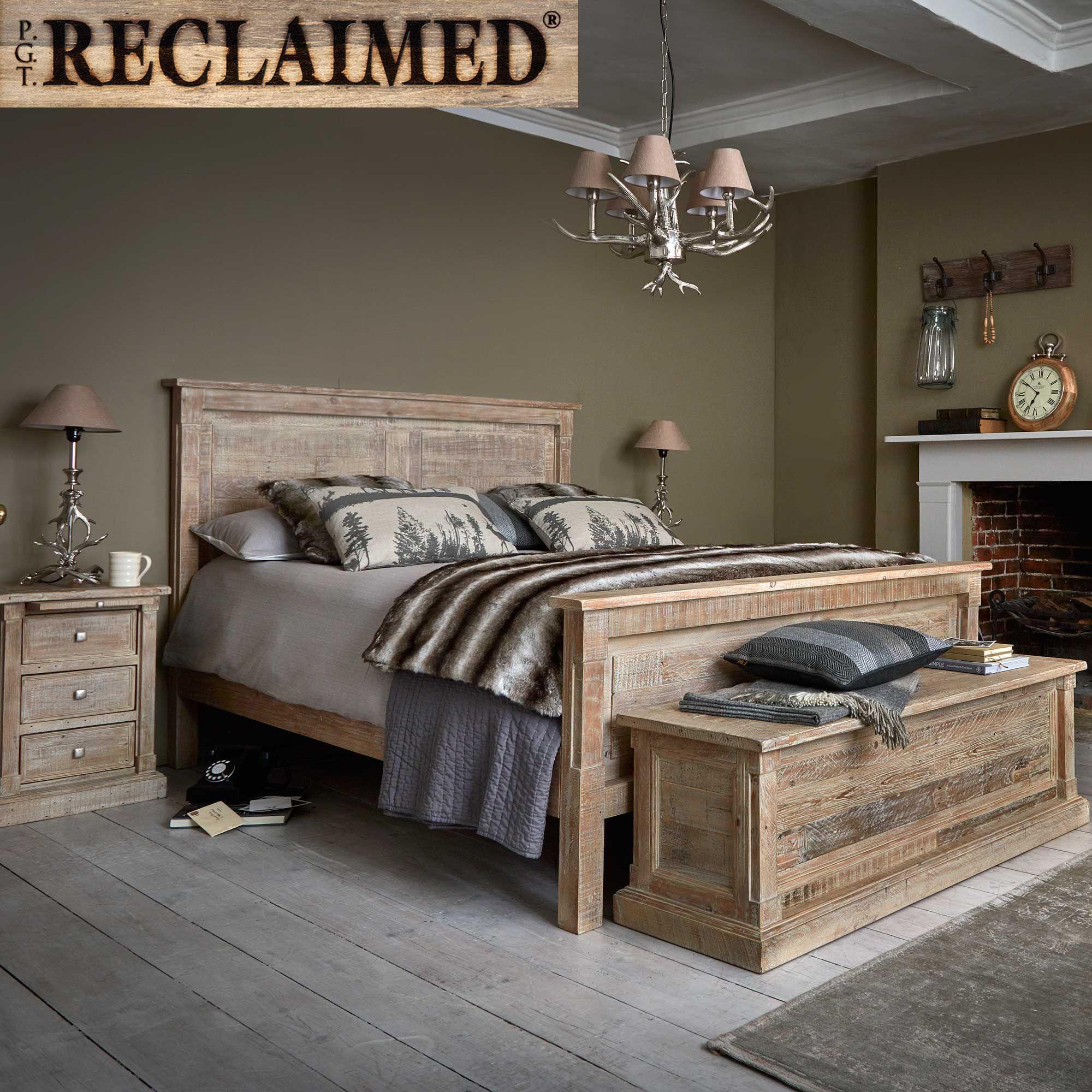 Austen reclaimed wood bedframe white wash bedframes bedroom
