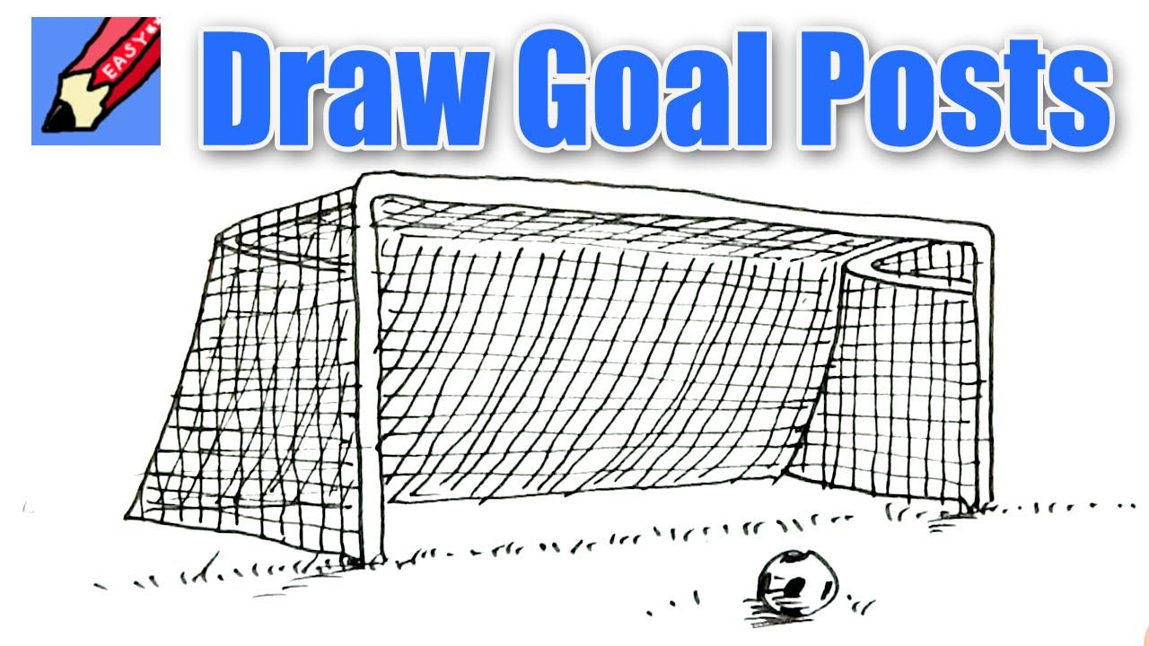 Draw A Goal Real Easy Soccer Goal Post Sports Party Invitations Volleyball Humor
