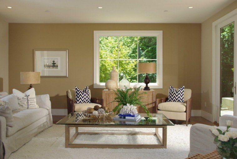salle de séjour en couleur chaude | Couleurs de peinture pour salon, Salons chaleureux, Peinture ...